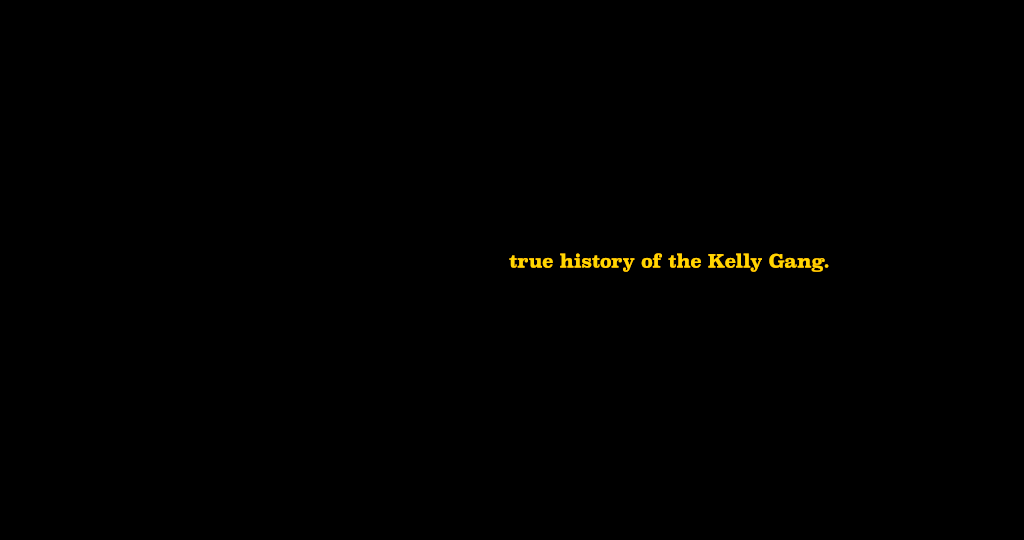 Title Design for True History of the Kelly Gang